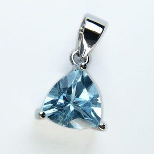 Jewelry - Genuine Blue Topaz Sterling Silver Pendant